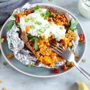 Süßkartoffel Kumpir ohne Fleisch