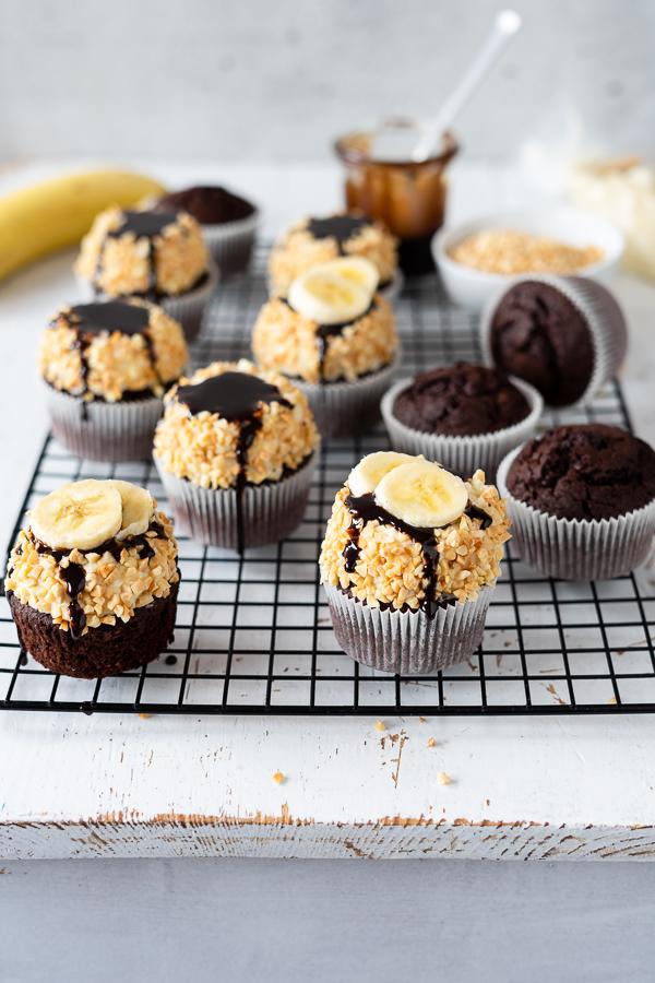 Cupcakes a la Banana Split