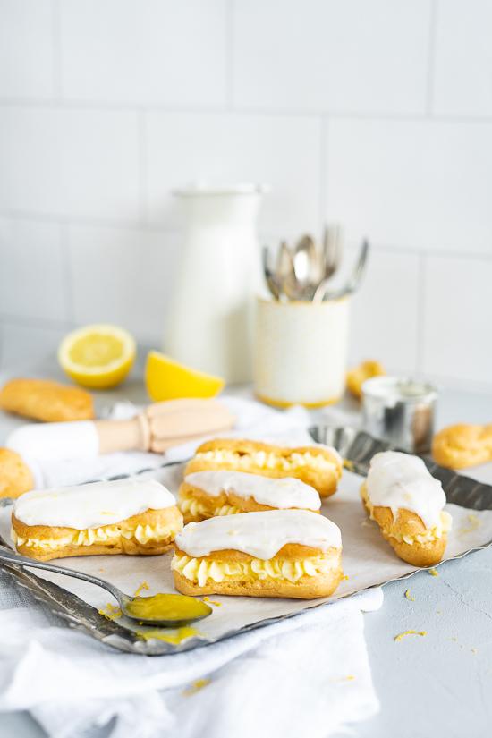 Eclairs mit Lemoncurd-Mascarpone Creme