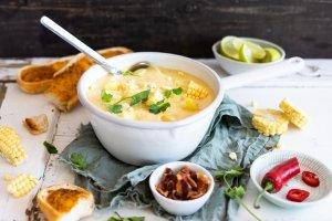 Mais-Käse-Kartoffel Suppe