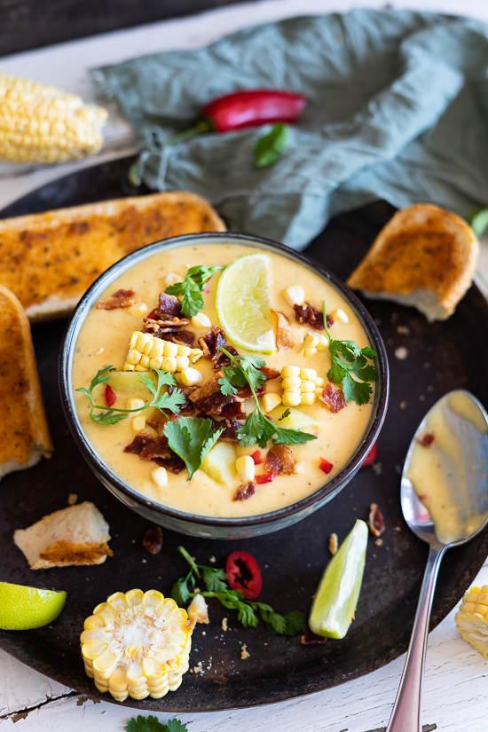 Mais-Kartoffel-Käse Suppe