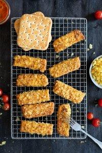 french Toast Sticks mit Kartoffel Chip Panade