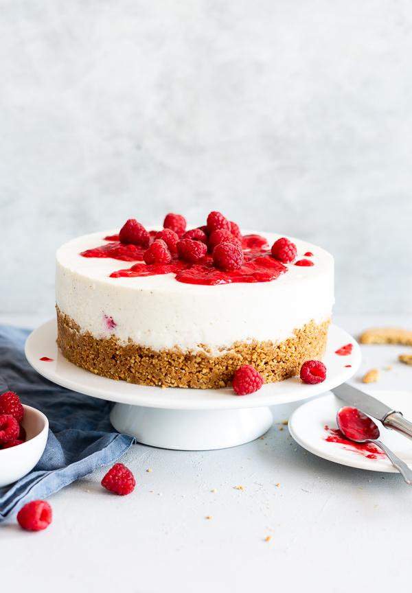 No Bake Vanille Himbeer Cheesecake Meine Kuechenschlacht