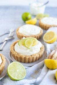 Zitronen und Limetten no bake cheesecake