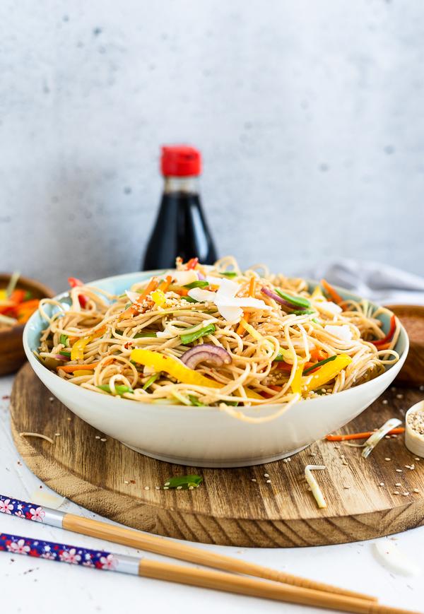 Chinesischer Nudelsalat, vegetarisch