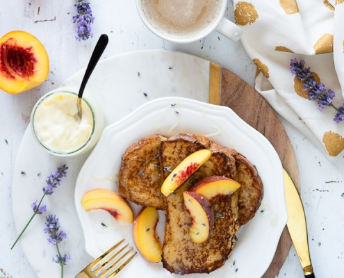 French Toast, Brioch, Lavendel, Pfirsich, Vanille Creme, REWE Feine Welt 1