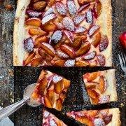 Pflaumen-Blätterteig Tarte