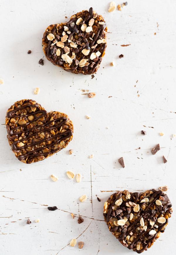 gesunde Schoko-Müsli-Herzen