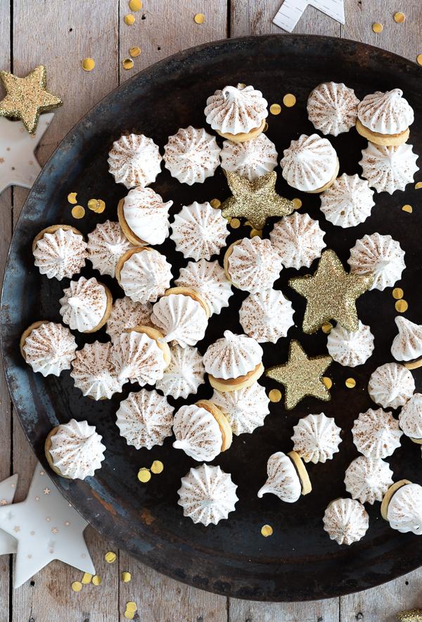 Mürbeteig-Baiser-Kekse