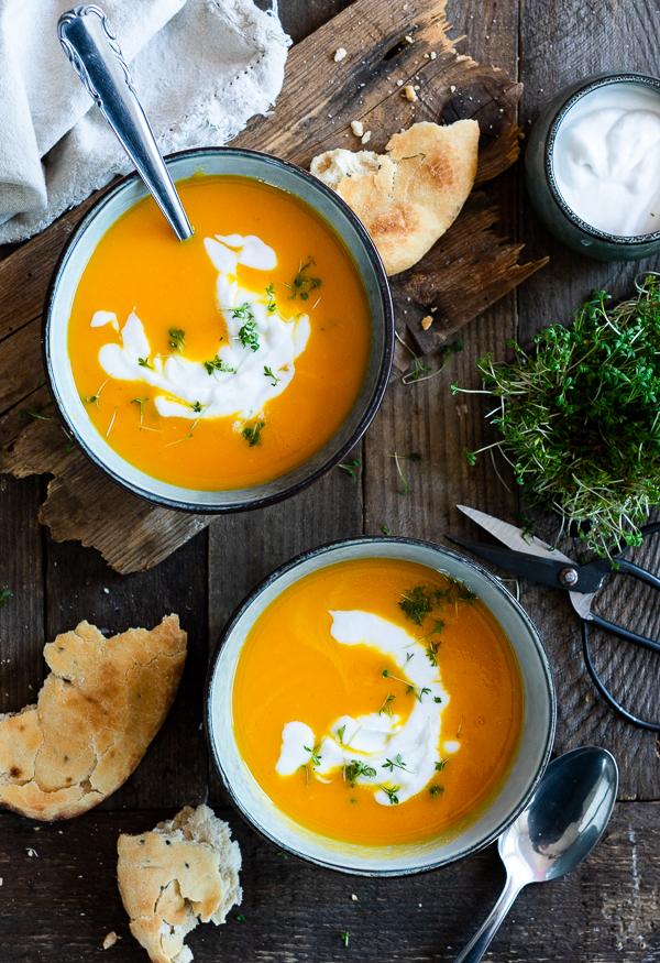 Möhren-Ingwer-Kokos Suppe