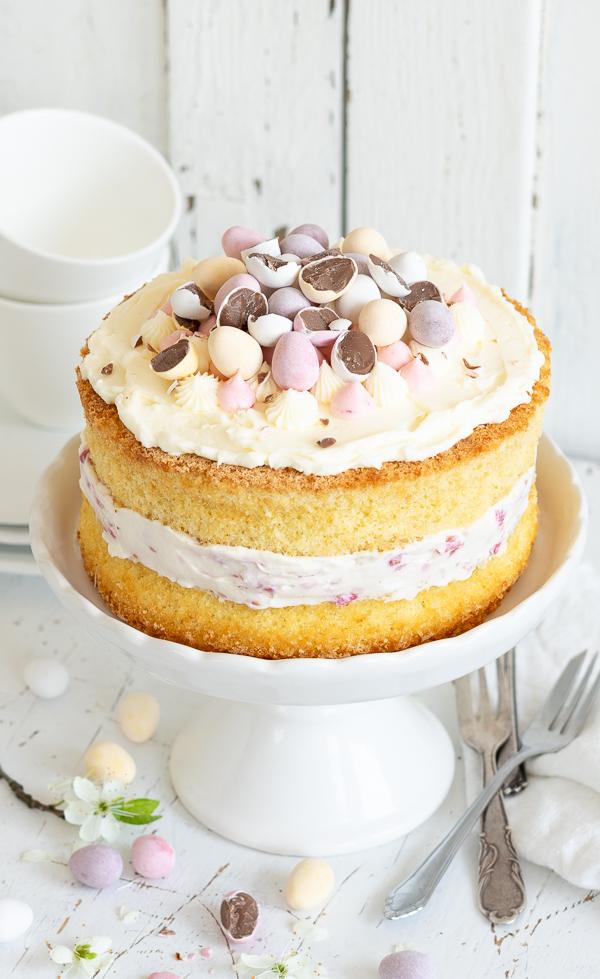 Himbeer Mascarpone Sahne Torte Layer Cake Raspberry Ostern